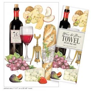 Wine Medley Large Print Towel