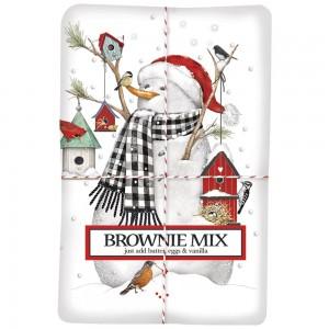 Birdhouse Snowman Brownie Mix