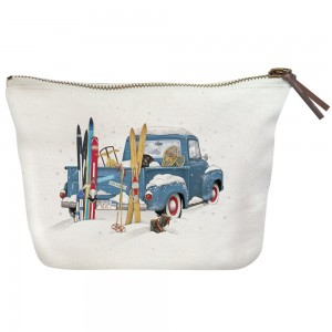 Blue Truck Skis Canvas Pouch