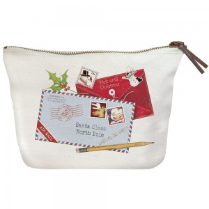 Letters To Santa Canvas Pouch
