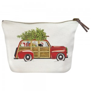 Stationwagon Holiday Canvas Pouch