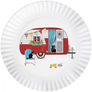 Summer Camper Melamine Platter