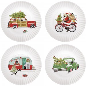 Holiday Vehicles Melamine Plate S/4 Asst