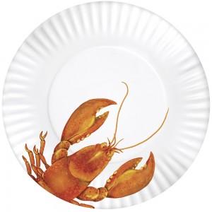 Lobster Melamine Plates Set Of 4