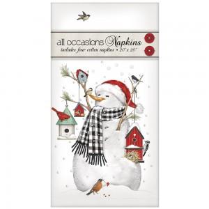 Birdhouse Snowman Casual Napkins