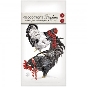 Stacked Winter Chickens Casual Napkins
