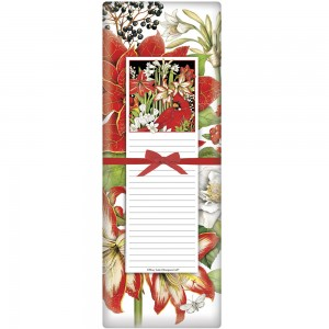 Winter Birds Flowers Notepad & Towel Set