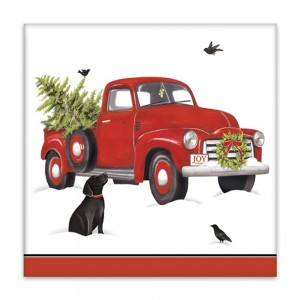 Holiday Truck Paper Napkins