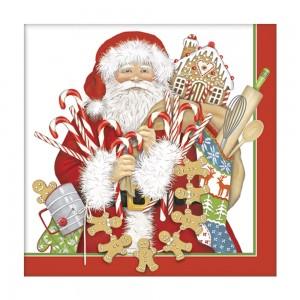 Gingerbread Santa Paper Napkins
