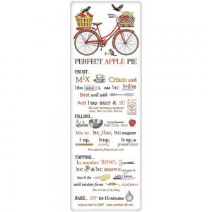 Red Bike Apple Pie Recipe Towel
