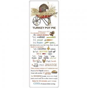 Turkey Wheelbarrow Pot Pie Recipe Towel