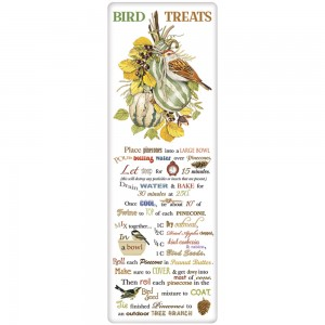 Striped Squash Bird Treats Recipe Towel