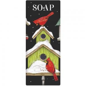 Winter Birdhouses Soap Bar
