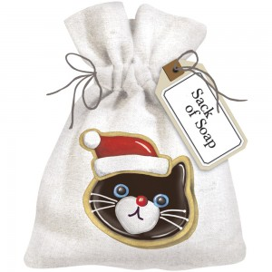 Cat Holiday Cookies Sack Of Soap