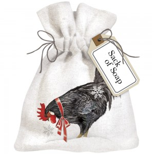 Winter Rooster Sack Of Soap