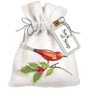Bird Ornament Sack Of Soap