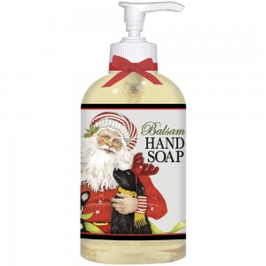 Santa with Puppies Liquid Soap