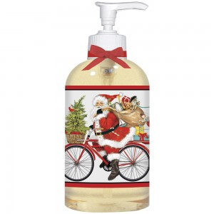 Red Bike Santa Liquid Soap