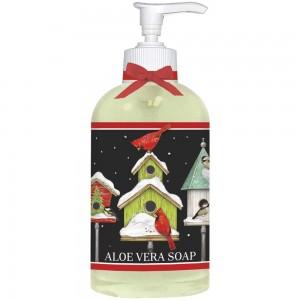 Winter Birdhouses Liquid Soap
