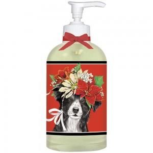 Collie Poinsettia Liquid Soap