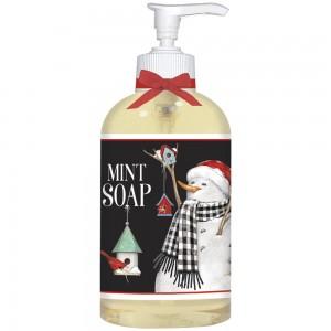 Birdhouse Snowman Liquid Soap
