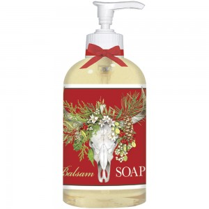Holiday Cow Skull Liquid Soap