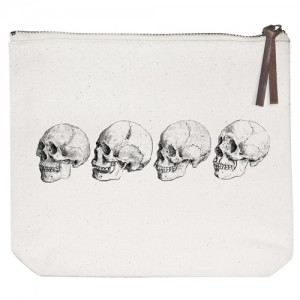 Skulls Canvas Pouch