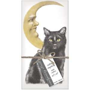 Cat Moon Napkins S/4