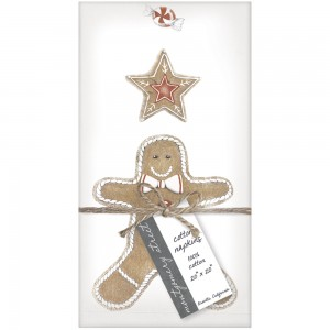Gingerbread Napkin S/4