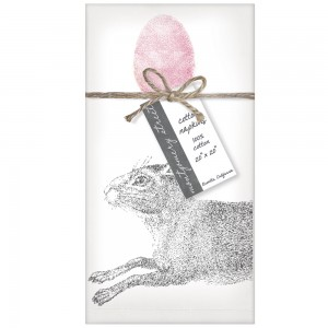 Rabbit With Egg Set of 4 Napkins