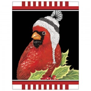 Cardinal with Hat Soap Rectangle