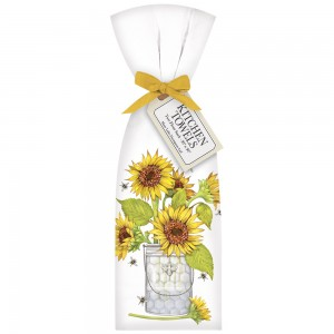 Sunflower And Bees Towel Set