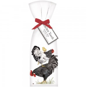Stacked Chickens Towel Set