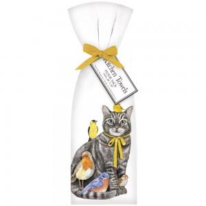 Cat And Birds Towel Set