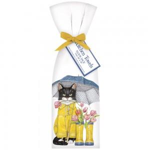 Cat Tulip Boots Towel Set
