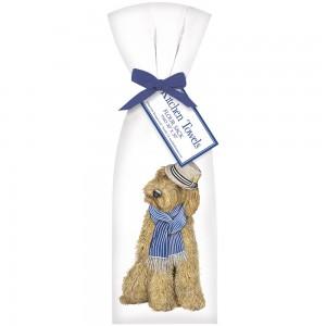 Dog Fedora Towel Set