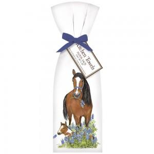 Bluebonnet Horses Towel Set
