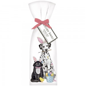 Easter Dalmation/ Cat Towel Set
