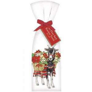 Poinsettia Goat Towel Set