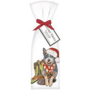 Christmas Heeler Towel Set