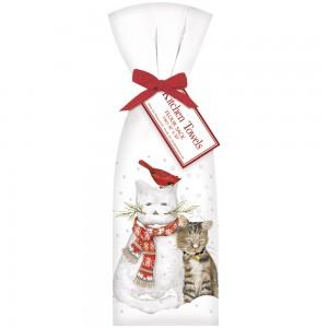 Snowman Cat Towel Set