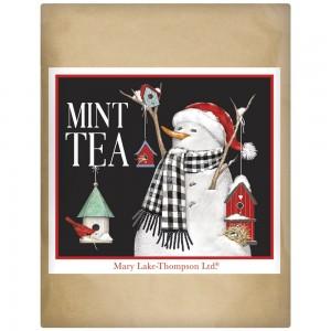 Birdhouse Snowman Wrapped Tea