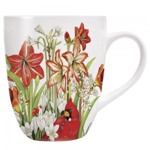 Cardinal Amaryllis Mug