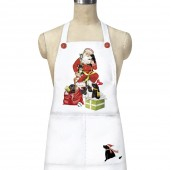Santa with Puppies Apron