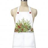 Holly & Evergreens Pocket Apron