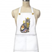 Cat And Birds Apron