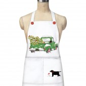 Holiday Green Truck Apron