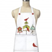 Winter Birdhouses Apron