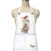 Stacked Winter Birds Apron