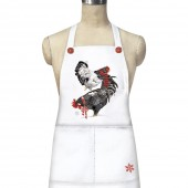 Stacked Winter Chickens Apron